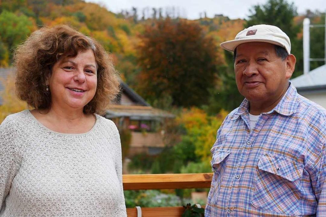 Sonja Haas und Guillermo Tenorio Vitonas in Ebringen    Foto: Jannik Jürgens