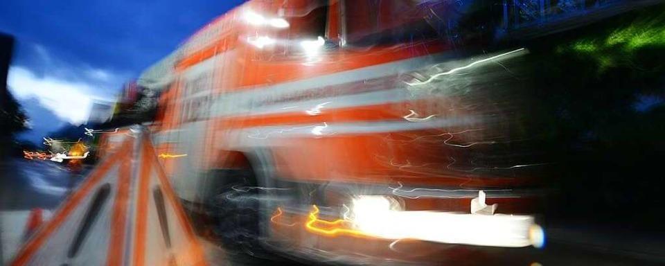 Fahrzeugbrand auf der A5 bei Bad Bellingen