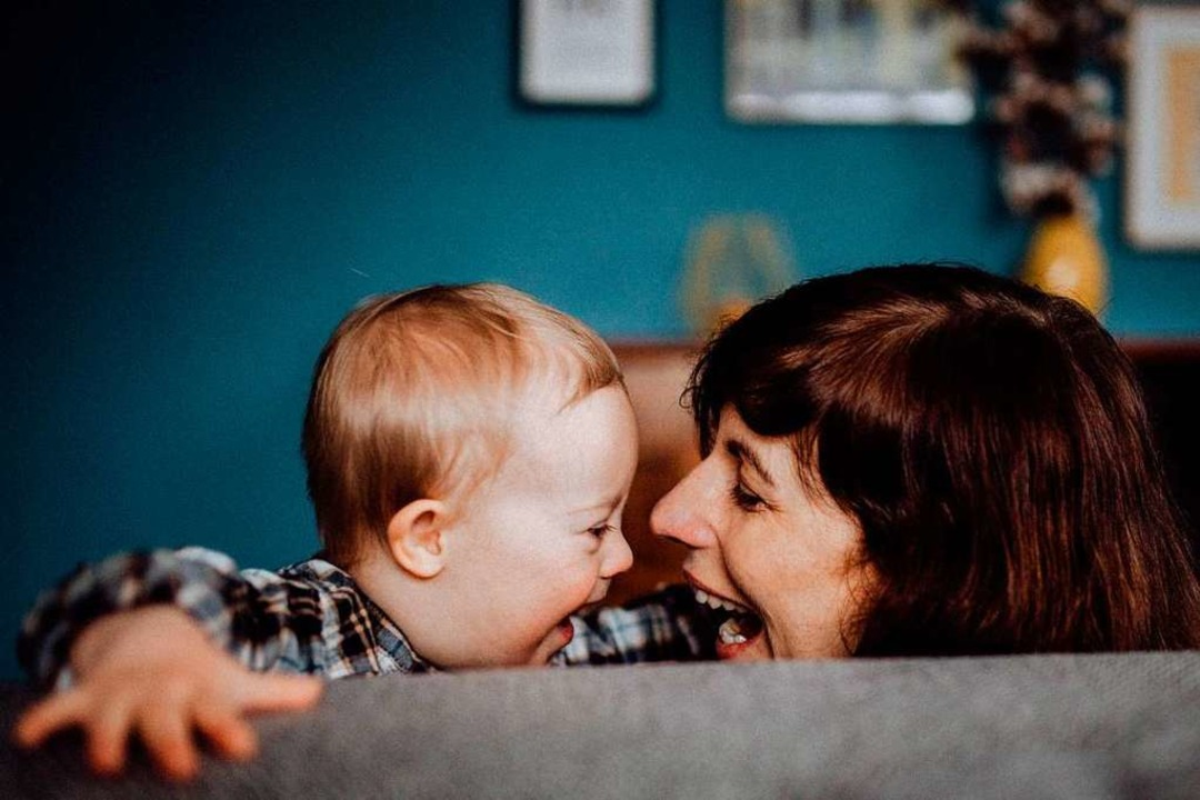 Irina Martius zeigt ihr Familienleben ...ein Kind mit Down-Syndrom entscheiden.  | Foto: Stephanie Helbig