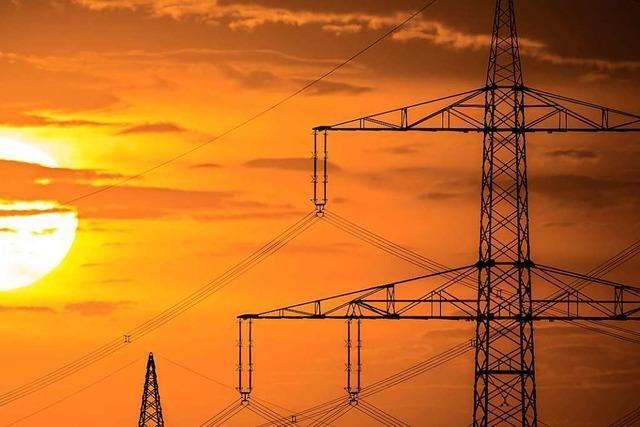 Fernleitungen für Windenergie führen über Felder von Kappel