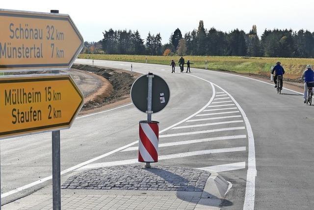 Die Umfahrung Staufen ist fast fertig – und vorerst noch bei Radlern und Fußgängern beliebt