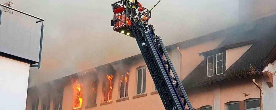 Brand in der Johannis-Druckerei in Lahr