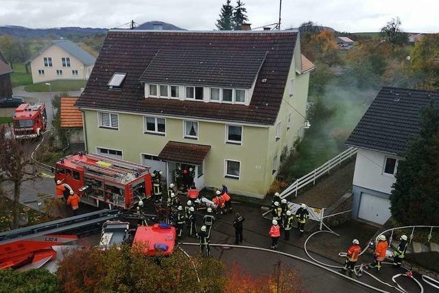 Brand in Wohngebäude in Ewattingen