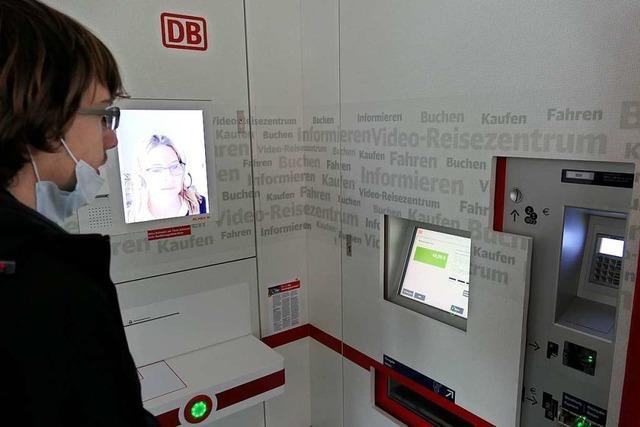 Video-Reisezentrum am Bad Krozinger Bahnhof