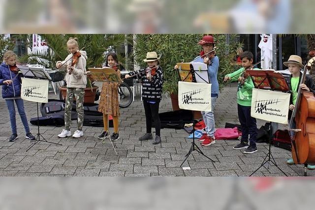 Musikschüler gaben ein Ständchen