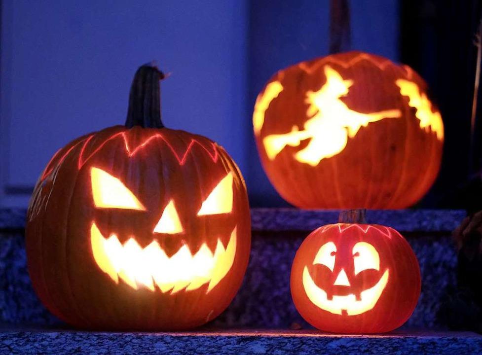 Am Samstag ist Halloween.  | Foto: Bernd Weissbrod (dpa)