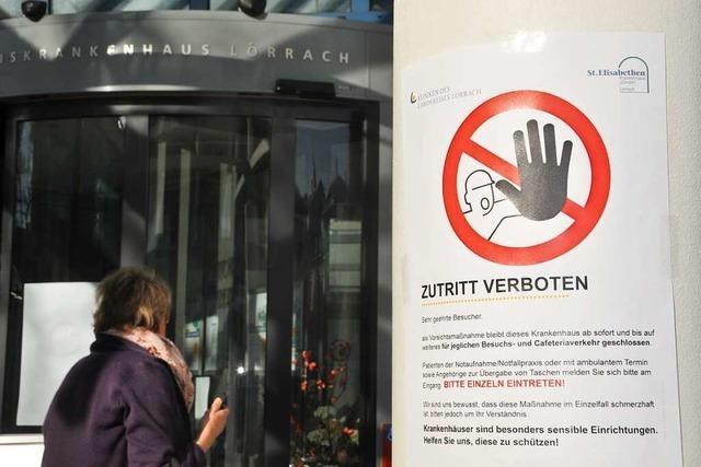 Die Lörracher Kreiskliniken schließen ab Montag für Besucher
