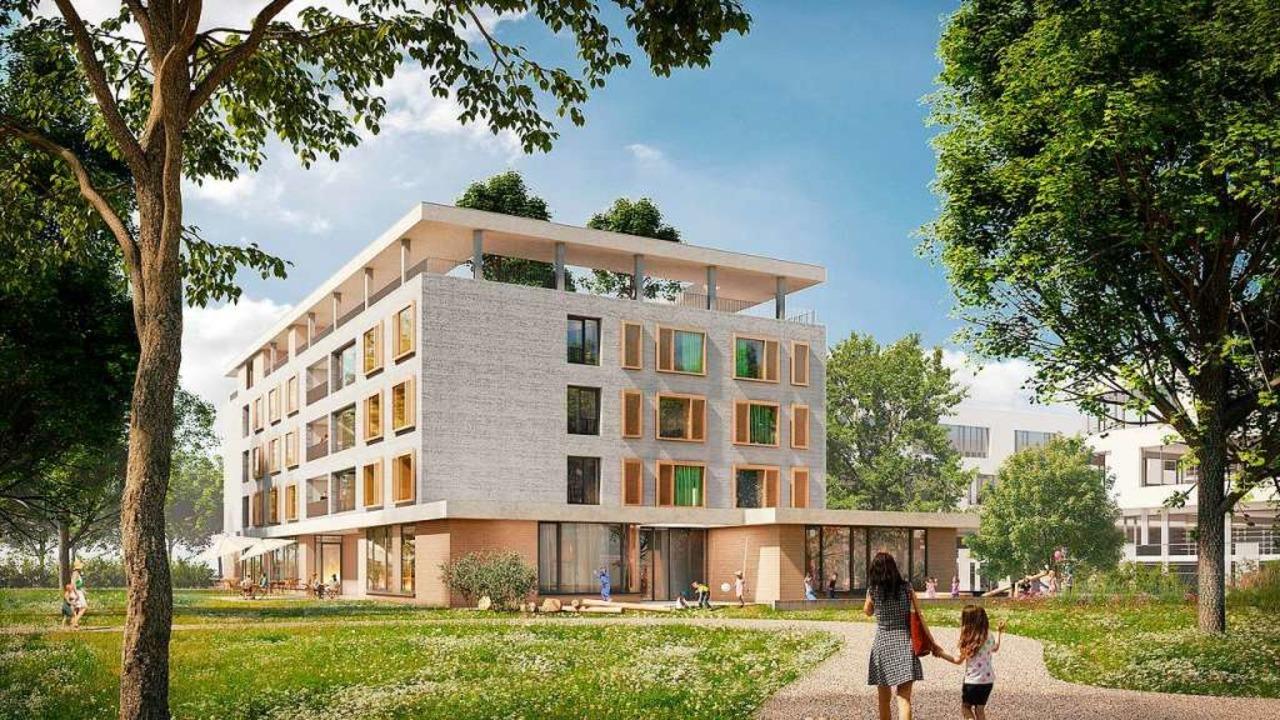 So soll das neue Elternhaus neben dem ...ik aussehen. Es soll 2022 fertig sein.  | Foto: Renderbar 3d-Visualisierungen Stuttgart