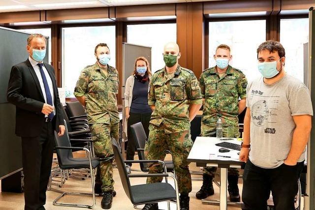 Bundeswehr unterstützt das Offenburger Gesundheitsamt