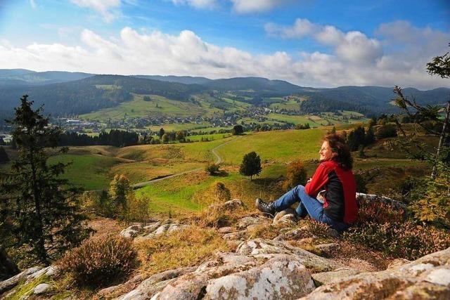 Auf dem Hochtalsteig in Bernau auf dem Weg ins Glück