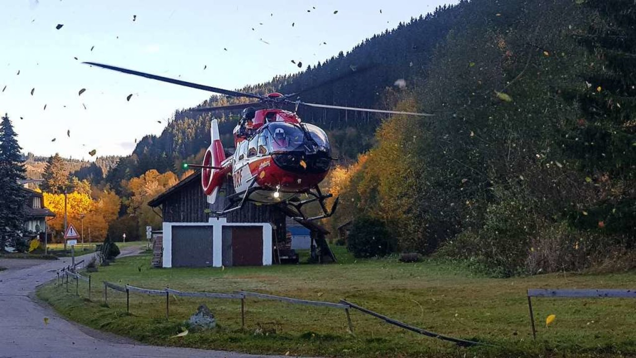 Der Rettungshubschrauber  | Foto: kamera 24