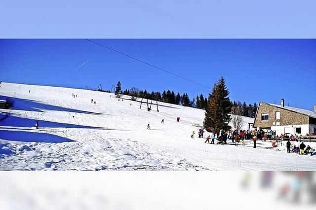 Wassertretstelle und Skilift