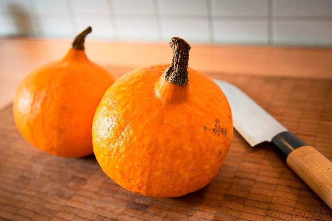 Im Herbst ist der Kürbis in der Küche beliebt,    Foto: Florian Schuh (dpa)