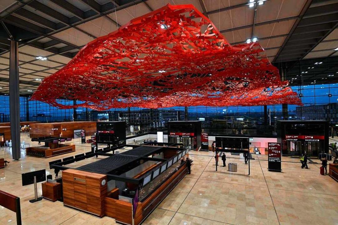 Terminal 1 des neuen Hauptstadtflughafens.  | Foto: TOBIAS SCHWARZ (AFP)