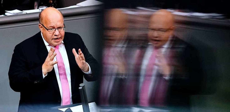 Gefordert in der Krise: Bundeswirtschaftsminister Peter Altmaier  | Foto: Kay Nietfeld (dpa)