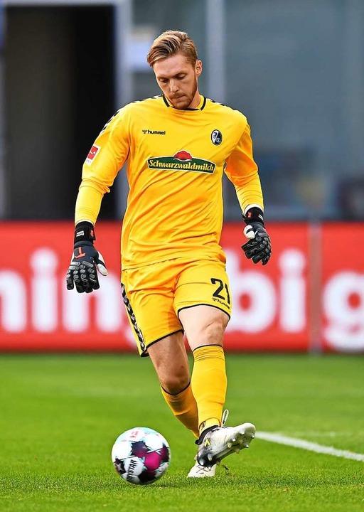In einem schweren Heimspiel könnte vie... ankommen: SC-Torhüter Florian Müller     Foto: Achim Keller/SC Freiburg
