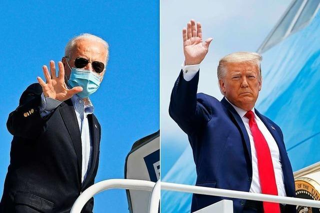 Trump und Biden in Wahlkampf-Endspurt in umkämpften Bundesstaaten