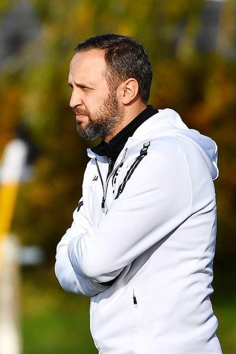 Marcel Kobus, Trainer des FC Teningen  | Foto: Achim Keller