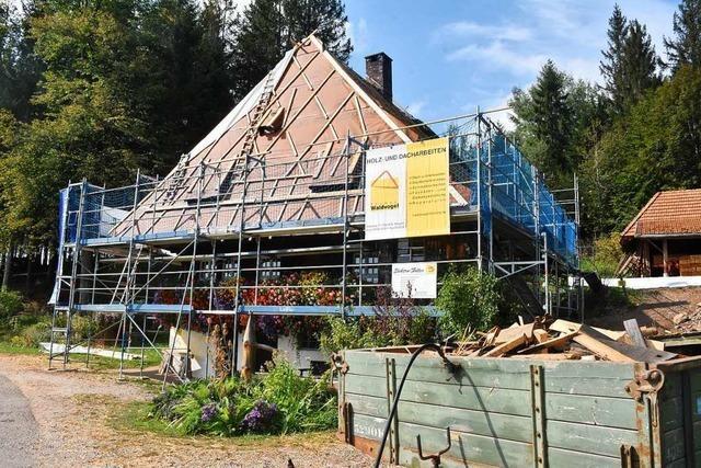 So gehen die Arbeiten in der historischen Rankmühle St. Märgen voran