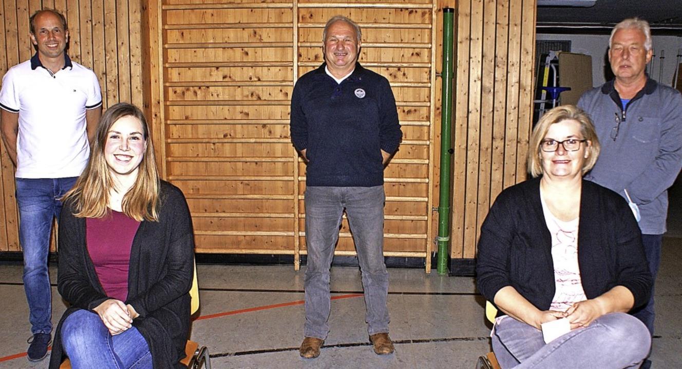 Der neue Vorstand des FC Herrischried ...ert, Britta Kaiser und Gerhard Grüber     Foto: Werner Probst