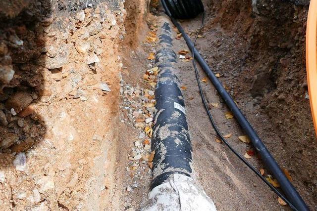 Nahwärmenetz: 1,5 Kilometer Leitung sind verlegt