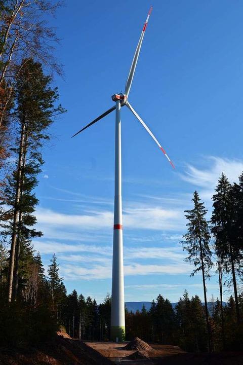 Die Windenergieanlage  3 bei der Kohlh...eit modernstes Windrad im ganzen Land.    Foto: Nikolaus Bayer