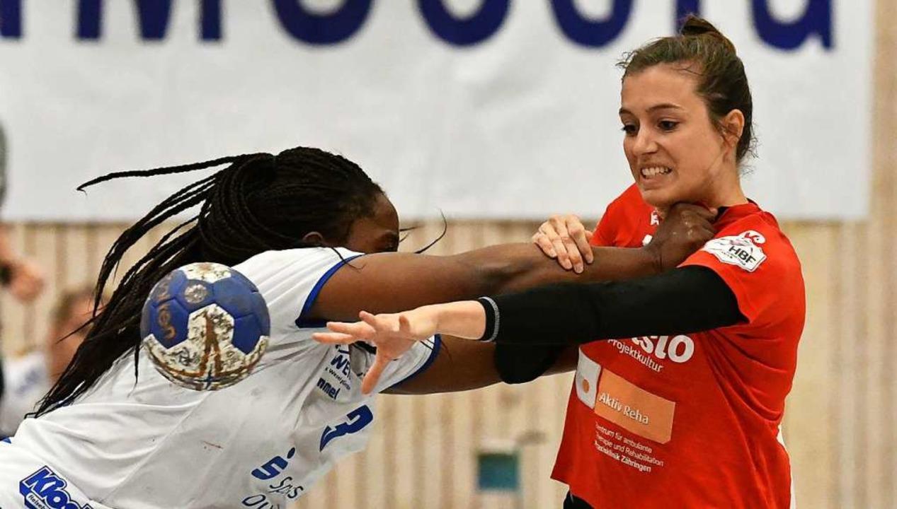 So wird in der zweiten Bundesliga gefi...gegen die Freiburgerin Christiane Baum  | Foto: Achim Keller