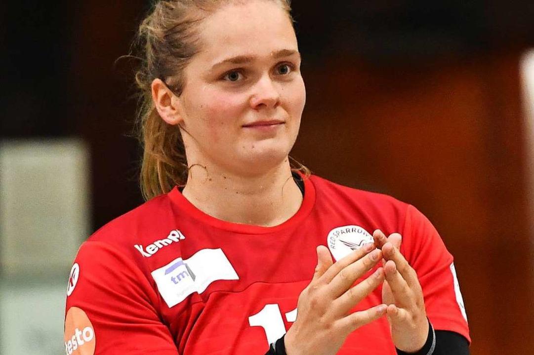 Natacha Buhl kehrt den Red Sparrows de...dball-Talents sicher mehr versprochen.    Foto: Achim Keller