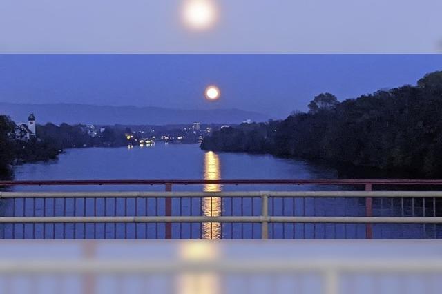 Mond über Rheinfelden