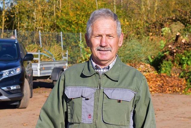 Der Chef vom Grünschnittplatz in Friesenheim ist jetzt im Ruhestand