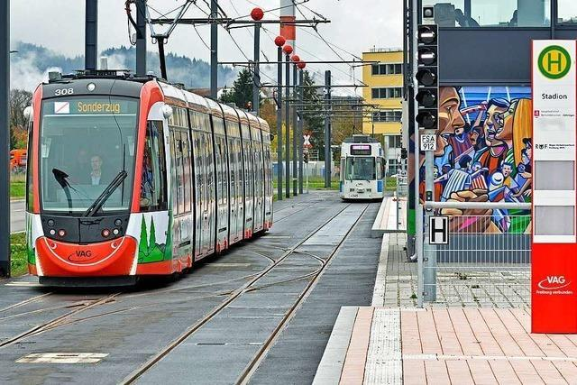 Die ersten Straßenbahnen rollen bis zur Freiburger Messe – aber nur für Lehrfilme