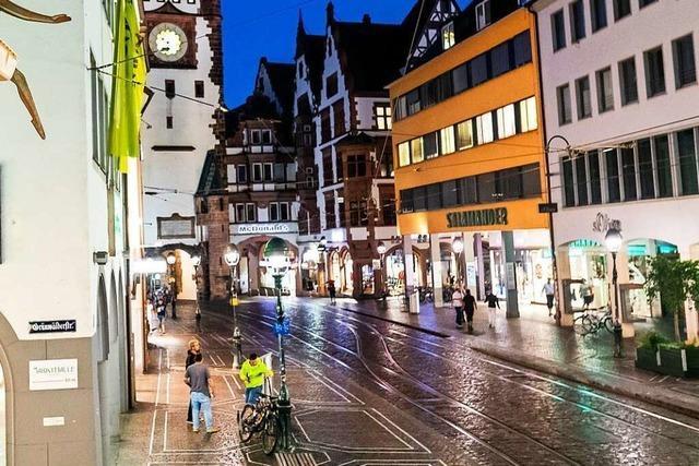 Viel weniger Passanten kommen in die Freiburger Innenstadt