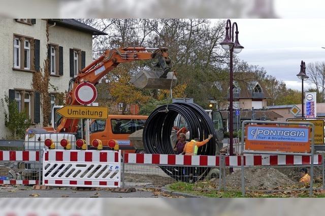 Bauarbeiten an der Stadteinfahrt