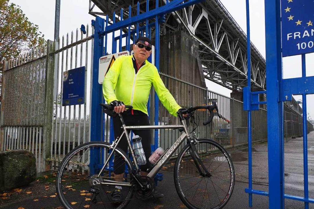 Gerhard Weiß fährt gern mit dem Rad üb...en Corona-Regeln nicht im Blick hatte.  | Foto: Herbert Frey