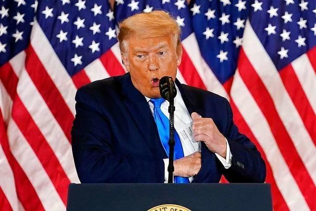 Trump will sich der juristischen Brechstange bedienen, statt die Auszählung abzuwarten