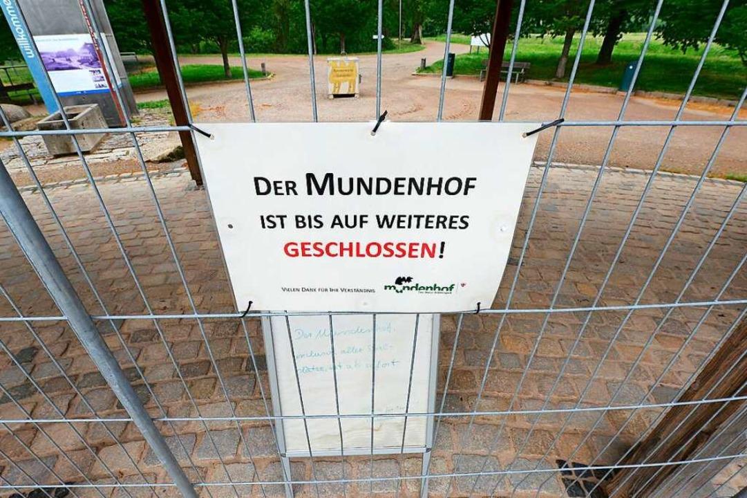 Das Frühjahr lässt grüßen: Der Mundenhof ist zu.  | Foto: Ingo Schneider