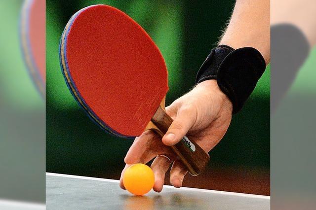 Tischtennistraining erlaubt, in der Theorie