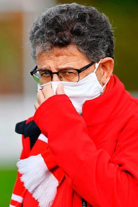 BSC-Vereinschef Dieter Bühler ist froh...ie Saison für einen Monat auszusetzen.  | Foto: Claus G. Stoll
