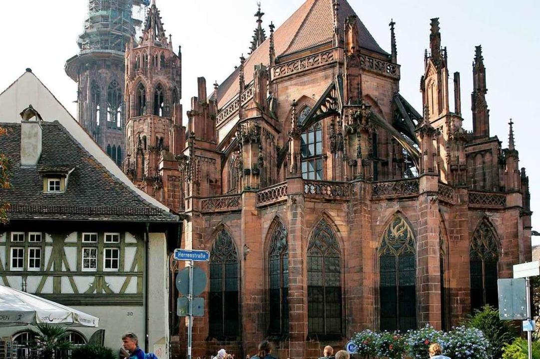 Die Stürzel-Kapelle im Chorumgang wird restauriert.    Foto: Andreas Schedlbauer/Muensterbauverein