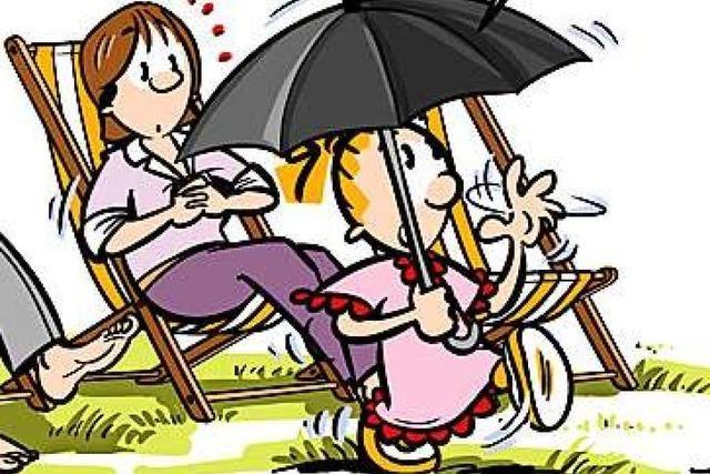 Lucy Backfisch: Regenschirm bei Sonnenschein