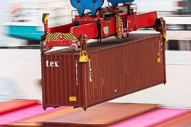 Schiffscontainer auf Ettenheimer Parkplatz sorgt für Spekulationen