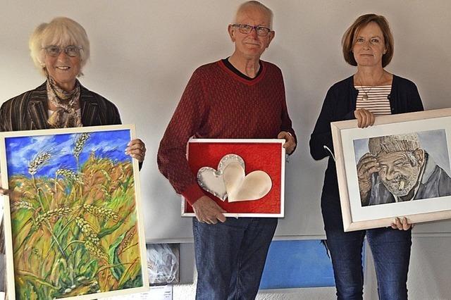 Drei Künstler im Todtmooser Rathaus