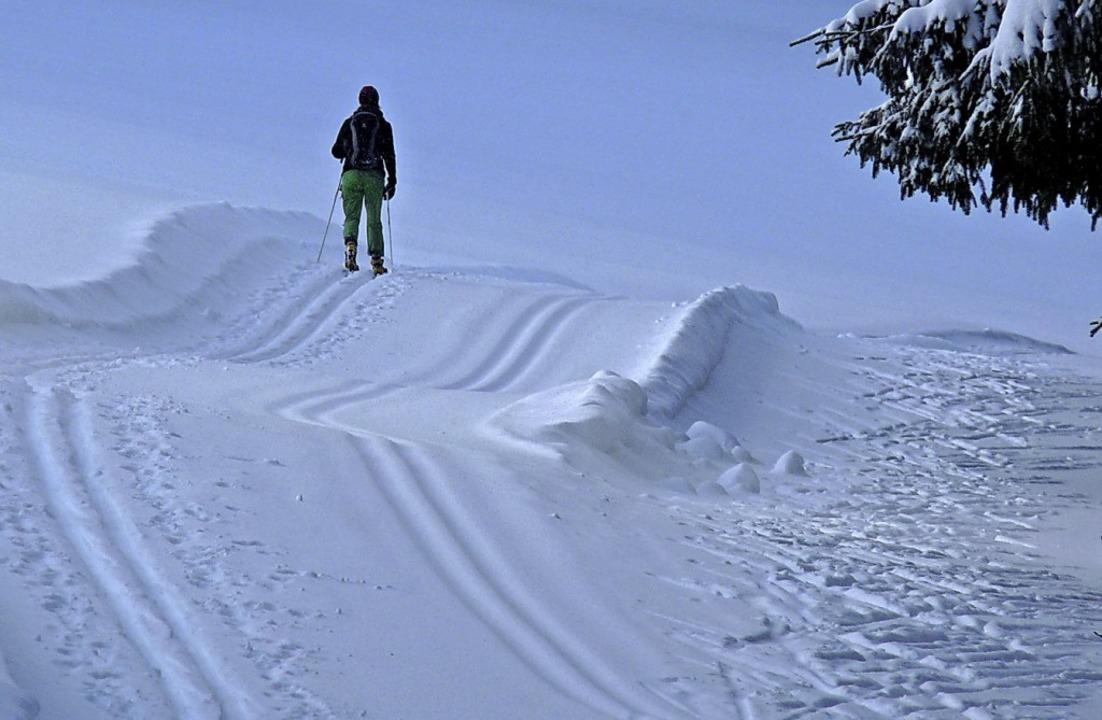 Träumen erlaubt: Mitten in der Pandemi... Winter, wie hier auf der Thurnerspur.  | Foto: Johannes Bachmann