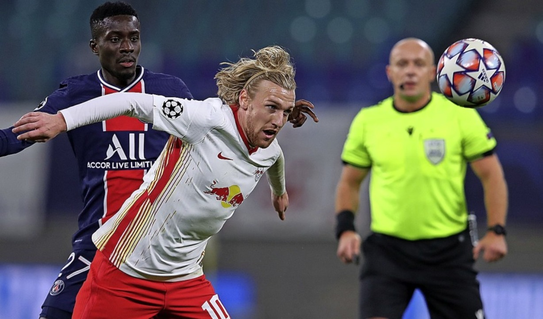 Emil Forsberg im Spiel gegen Paris Saint-Germain  | Foto: RONNY HARTMANN (AFP)