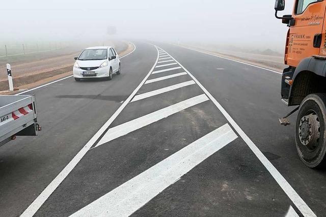 Der Verkehr rollt auf der Umfahrung Staufen