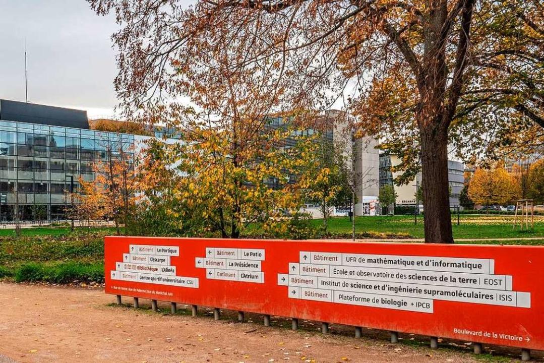 Leerer Straßburger Universitätscampus:...ufe müssen ran und haben große Sorgen.  | Foto: bz