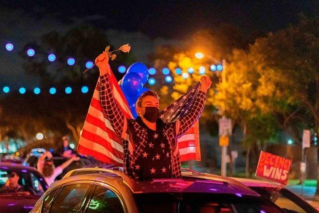 Amerikaner feiern Trump-Abwahl wie eine Fußball-WM – und hoffen auf Normalität
