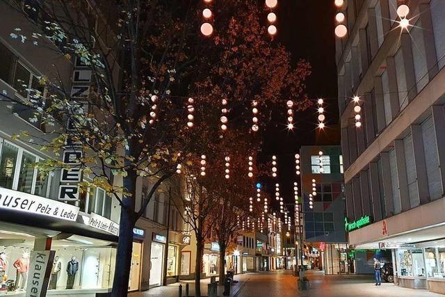 Neue Weihnachtsbeleuchtung in Lörrach glänzt mit spezieller Technik