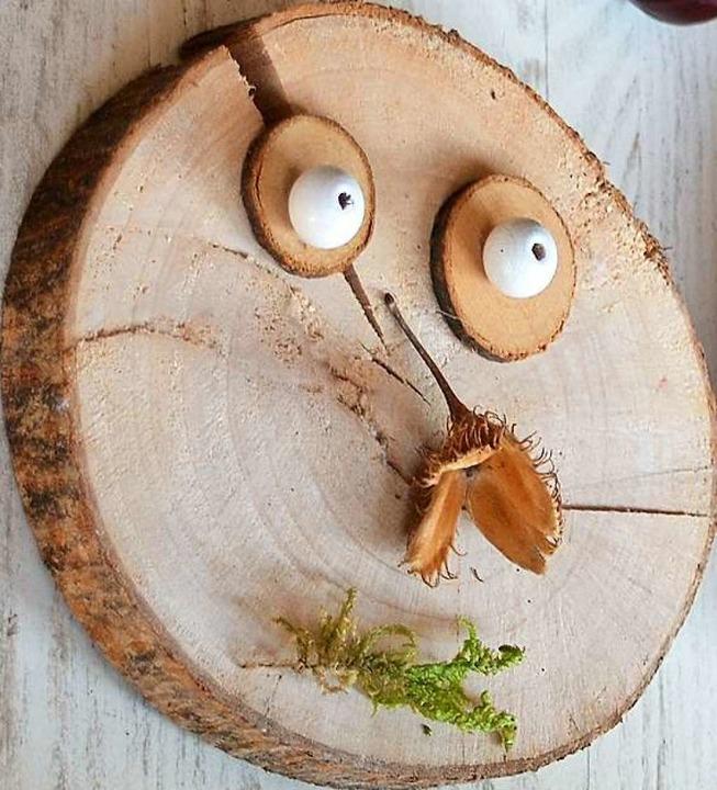 Schon was für kleine Kinder: lustige Herbst-Gesichter  | Foto: Silke Kohlmann
