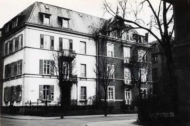 Von einem Doppelhaus in Freiburg-Wiehre überstand nur der Sockel den Weltkrieg